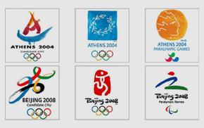 近30年奥运会、冬奥、残奥申奥标识及官方会徽